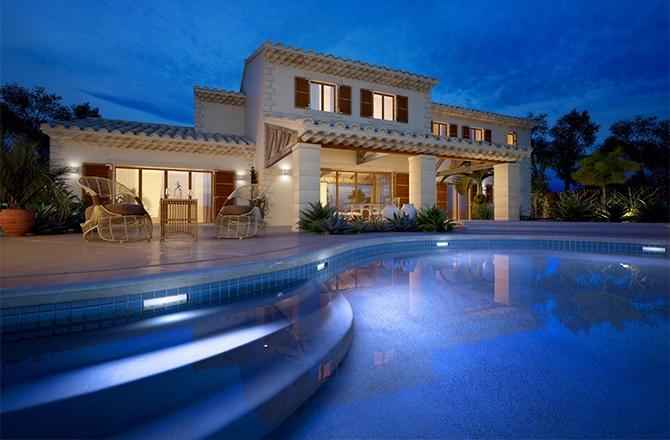 villa con piscina di impresa edile roma