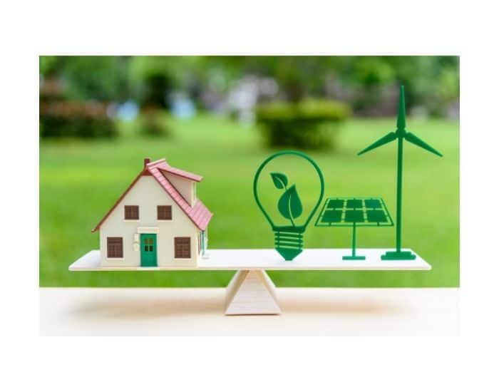 Immagine di casa e metodi a favore dell'efficienza energetica